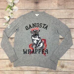 H&M Pug Gangsta Rapper Alpaca Sweater